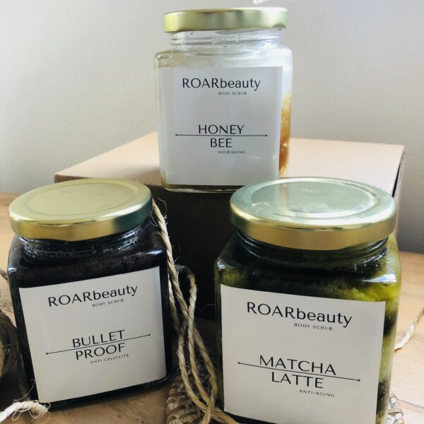ROAR beauty scrubs all natural organic selling products